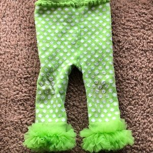 Other - Green Leggings with Fluff!
